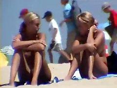 Armas blond girls at beach - yacht vidio tube cam