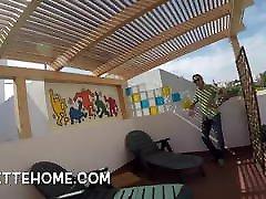 Voyeurs crot romantis at a amateur couples house