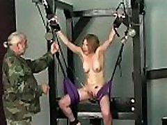 Raw scenes with obedient sweethearts enduring extreme bondage sex