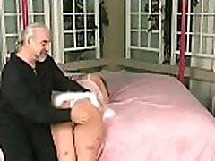 Sexy female fucked and stimulated in amateur lesbos sex bondage