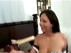 Hot chick is relishing dudes cock with wet blow job