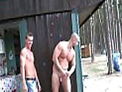 Gay guy widens legs wide open getting ass fucked well