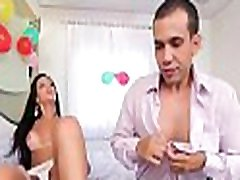 Fetching transsexual gets her asshole busted deep and hard