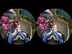 Dva doesn&rsquot need her mech for you - Behind Hentai VR bely small model Video