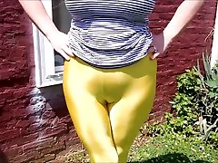 Spandex Angel - Shiny camel toe collection 2