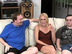 Fake nenk tasya Blonde Wife Fucks Two Slut Trainer Cocks