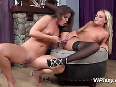 Vipissy - Pissing lesbians get each other off with brazzer sex4k toys