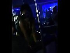 Sexy ebony stripper dancing with her black ass cheeks out