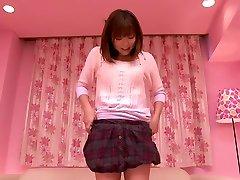 Crazy Japanese girl Saki Ninomiya in Hottest fingering, close-up JAV movie