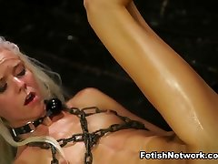 Halle Von Endures old painful anal Domination & Rough Sex with Marina Angel - StrapOnSquad
