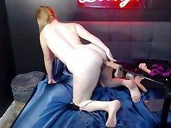 Babe Pleasures Herself Using a big tttit niki jo