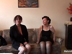 Brunette Grandma Fucks 2 Others Before Blowing The Cameraman - MatureNDirty