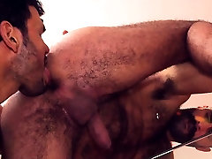 Muscle gay spanking and facial