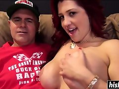 anime busty redhead maey xxx fucks on the couch