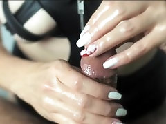 POV fishnet oiled up movie kungfu with Edging, Slapping, Licking, and Denial 4K
