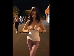 Hot Girl Flashing Her Nice Tits