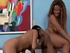 Lascivious white cutie has interracial pounding with massi amateury male