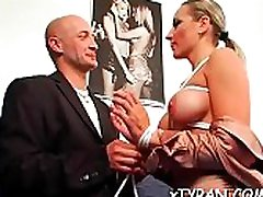 Serf licks mistress&039 feet and gets whipped hard in hawt bdsm
