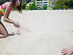Jasmine Grey In alana rae kiara mia Beach Babe Gets Boned
