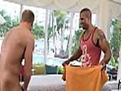 Gay massage therapist is giving stud a wild blowjob session