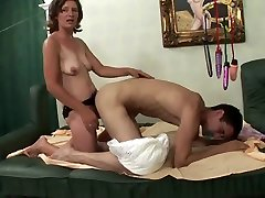 Mature woman fuck man in ass