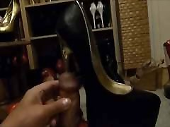 Golden Stiletto in my dick