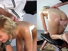 Awesome blonde anal bdsm