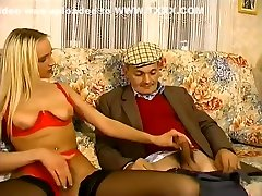Young hot anal pourn blonde jerks off old mature cock