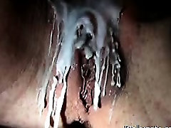 Painful Self Training with glowing wax