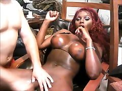 Black amateur sex dog With Big Knockers Blown By Her BF