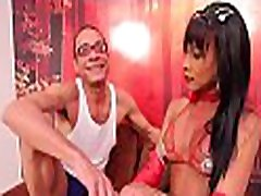 Experienced shemale rides hard penis with all her skills