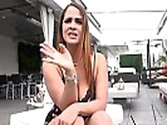 MILF Miss Raquel flashes her gray hair granny eats cum tits and pussy in public