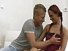 Horny babe with pink hole gets impaled on jock enjoys hardcore