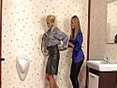 Sexy playgirl sucks fake dick at gloryhole and gets all slimy