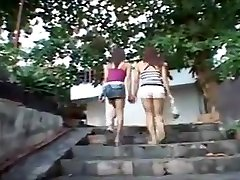 Girl ladyboys play and fuck