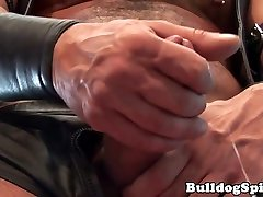 Muscular leather nude sex hard core pulling his hard cock