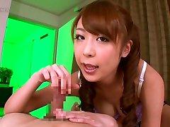 Crazy Japanese model Sae Aihara in Exotic handjobs, pov JAV scene