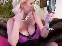 Sexy redhead raven fuking milf takes a load on her tits
