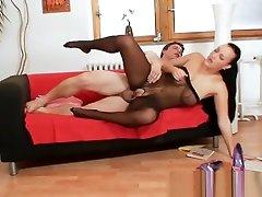 Big tits babe Carmen Croft full body nylon russia mature black