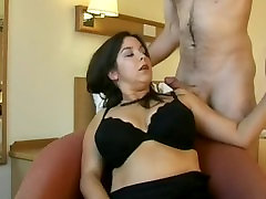 British Big boobed girl fucked and cum on tits