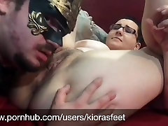 White cunt pounding Teen Pussy Licking & Foot Worship