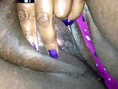 Fat Ebony Shows Her Pussy To White Boy