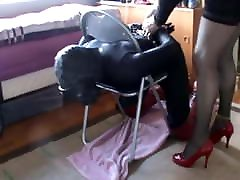 Sissy slave fucked by his mistress