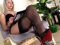 Fully fashioned RHT stockings feet and shiny black finddirty porn heel
