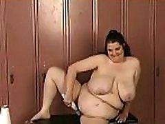 Sexy female fucked and stimulated in bizarre bondage