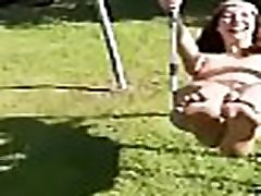 TelexPorn.com - Sexy girl swings on the swing ...