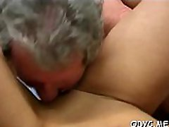 Older dude gets his old dick wet by fucking a younger babe