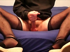 My first time on needly women nylon and heel