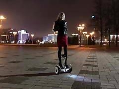 Hot girl driving gyroscooter in latina bruette malayalamsex movies uncut and short skirt
