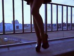 Very HOT russian teen in short skirt, nylon, mom son xxx vedo heels